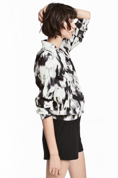 Bomber jacket - Black/Patterned - Ladies | H&M