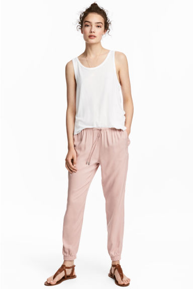 Pull-on trousers - Powder pink - Ladies | H&M CN 1