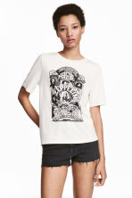 T-shirt with a print motif - White/Led Zeppelin - Ladies | H&M 1
