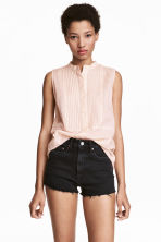 Sleeveless blouse - Light apricot - Ladies | H&M CN 1