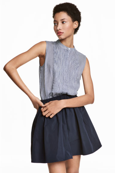 無袖女衫 - Dark blue/Striped - Ladies | H&M 1