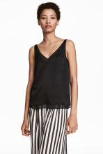 Double-layered top - Black - Ladies | H&M CN 1