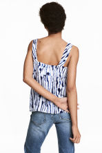 Patterned top - White/Blue pattern - Ladies | H&M 1