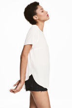 Short-sleeved blouse - White - Ladies | H&M CA 1