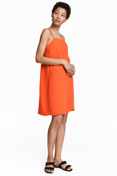 Crêppad klänning - Orange - Ladies | H&M FI 1