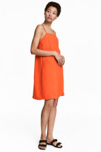 Crêpe dress - Orange - Ladies | H&M 1