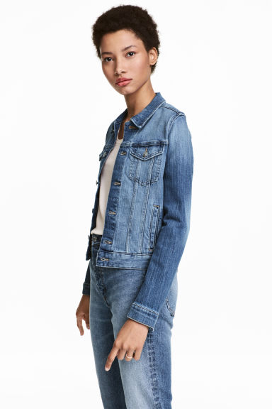 Short denim jacket - Denim blue - Ladies | H&M CN