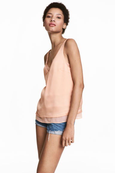 2-in-1 topje - Poeder - DAMES | H&M BE 1