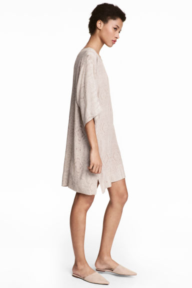 Short Dress - Light beige/Pattern - Ladies | H&M CA