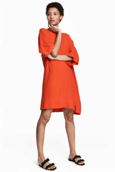 Short dress - Orange - Ladies | H&M CN 1