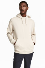 Cotton hooded top - Light beige - Men | H&M 1