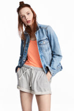 Sweatshirt shorts - Grey marl - Ladies | H&M 1