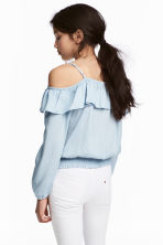 Flounced blouse - Blue - Kids | H&M CN 1