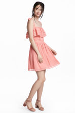 Lace-detail dress - Coral pink - Ladies | H&M CN 1