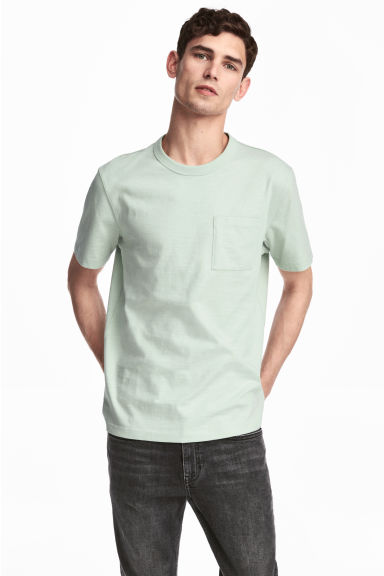 Marled T-shirt - Mint green - Men | H&M CN 1