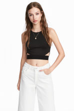 Cut-out vest top - Black - Ladies | H&M 1