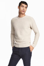 優質棉套衫 - Light beige - Men | H&M 1