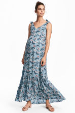 MAMA Long dress - Light blue/Floral - Ladies | H&M 1