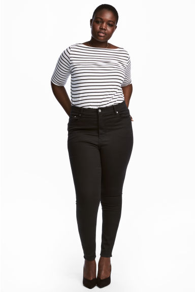 H&M+ Skinny High Jeans - Siyah kot - Ladies | H&M TR 1
