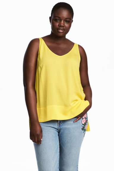 H&M+ V-neck top - Yellow - Ladies | H&M GB