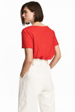 Slub jersey T-shirt - Red - Ladies | H&M 1