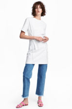 Laced T-shirt dress - White - Ladies | H&M 1