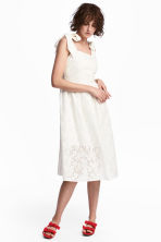 Dress with broderie anglaise - White - Ladies | H&M 1