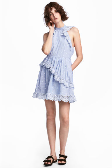 Cotton dress - Blue/White/Striped - Ladies | H&M 1