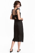 Frilled dress - Black/Spotted - Ladies | H&M 1