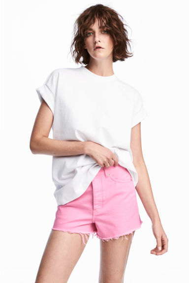 Tricot T-shirt - Wit - DAMES | H&M BE 1