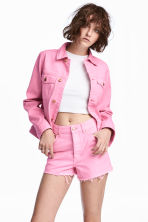 Denim jacket - Pink denim - Ladies | H&M CN 1