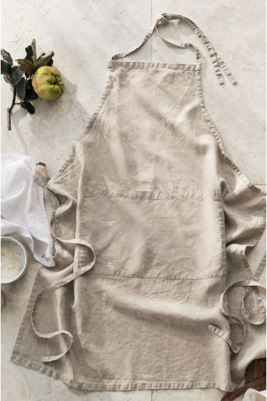 Grembiule in lino lavato - Beige lino - HOME | H&M IT 1