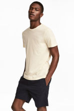 Round-neck T-shirt Regular fit - Light beige - Men | H&M CN 1