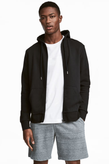 Sweat zippé Regular fit - Noir - HOMME | H&M CH 1