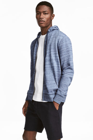 Hooded jacket Regular fit - Blue marl - Men | H&M CA