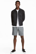 Sweatshirt shorts - Blue-grey marl - Men | H&M 1