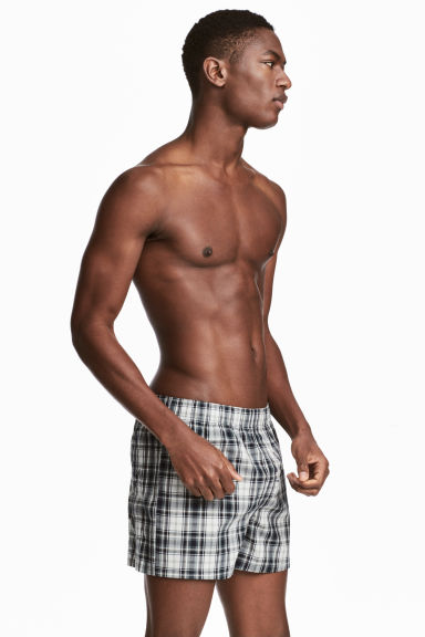 3-pack boxer shorts - Dark blue/Checked - Men | H&M 1