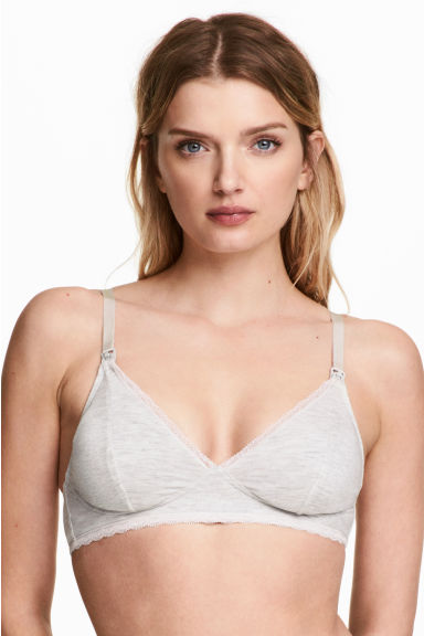 MAMA 2-pack nursing bras - Dark grey/Light grey - Ladies | H&M CN