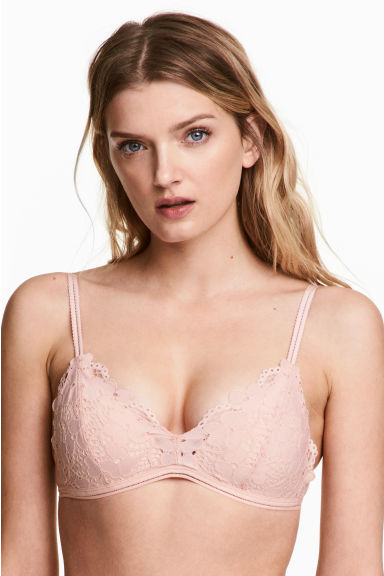 Non-wired push-up bra - Powder pink - Ladies | H&M 1