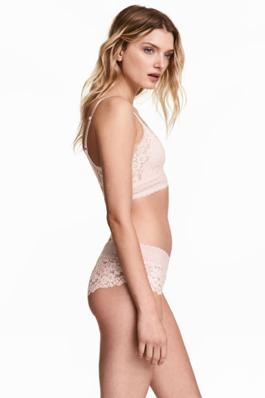 Lace hipster briefs - Light beige -  | H&M