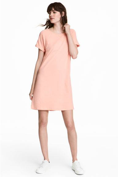 Cotton T-shirt Dress - Light apricot - Ladies | H&M CA 1