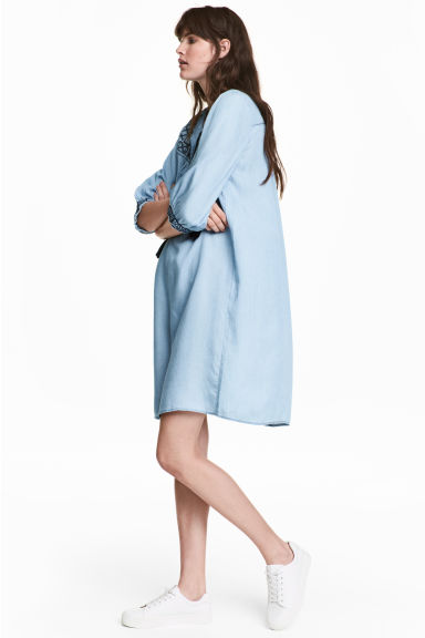 Lyocell denim tunic - Light blue -  | H&M 1