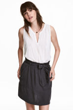 Skirt with Tie Belt - Dark grey - Ladies | H&M CA 1