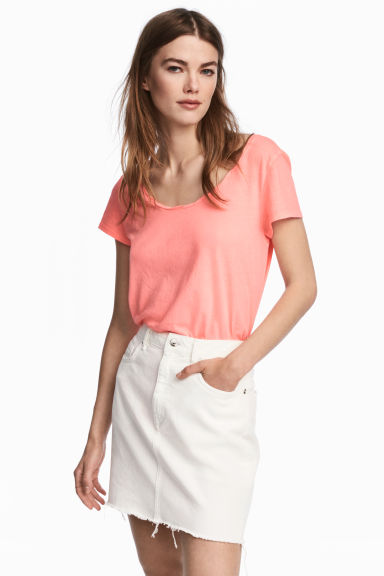 Jersey top - Neon pink - Ladies | H&M
