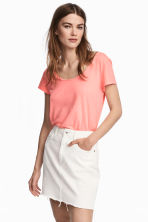 Jersey top - Neon pink - Ladies | H&M 1