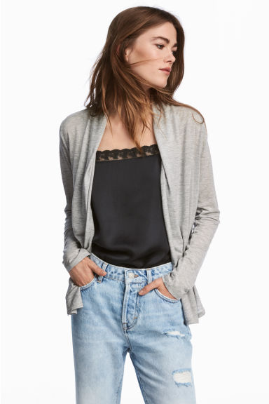 Lyocell jersey cardigan - Grey marl - Ladies | H&M 1