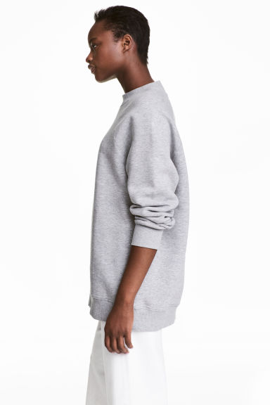 Sweatshirt with raglan sleeves - Grey marl - Ladies | H&M CN 1