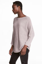 Ribbed jumper - Light purple marl - Ladies | H&M IE 1