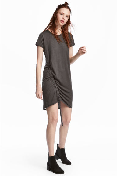 Abito in jersey con coulisse - Grigio scuro - DONNA | H&M IT 1