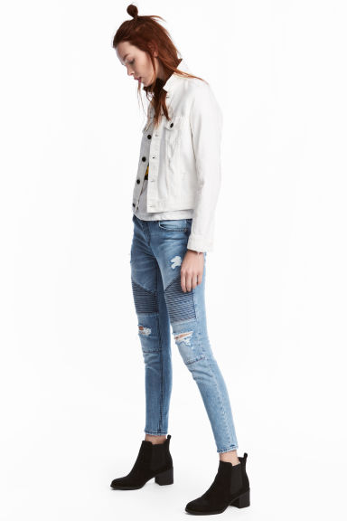 Biker jeans Skinny fit - Light denim blue - Ladies | H&M